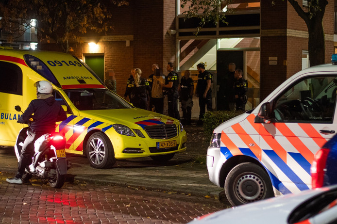 Een aanhouding van een verwarde man in de Hobbemastraat in Woerden trok veel bekijks.