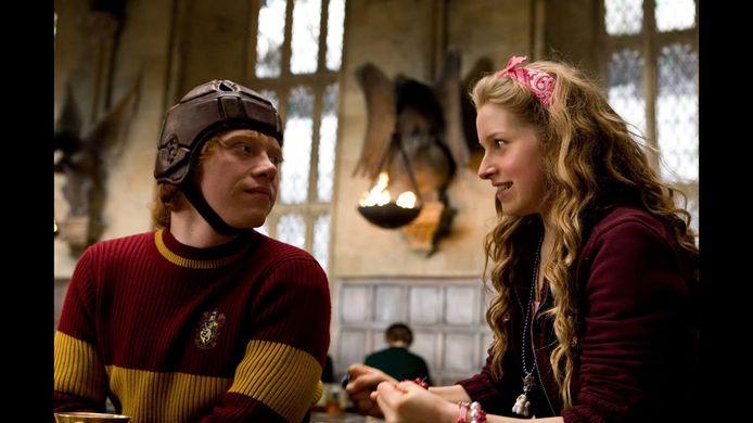 Rupert Grint en Jessie Cave in de 'Harry Potter'-films