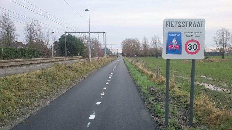 De Reigersweg is één van de eerste fietsstraten in Buggenhout.