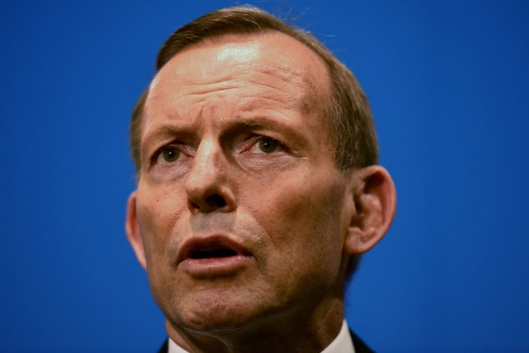 De Australische premier Tony Abbott. Beeld EPA