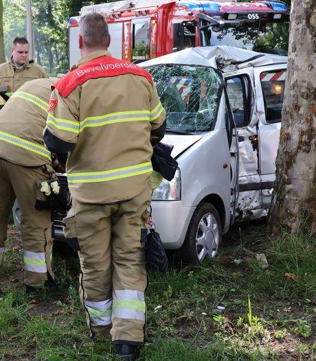 Automobilist knalt met auto tegen boom in Oss, bestuurder gewond