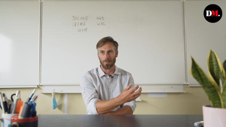 Diederik D'Hert, leerkracht Biologie. Beeld rv