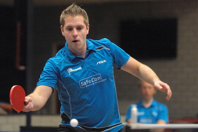 Frank Hollak van Avanti in opperste concentratie.