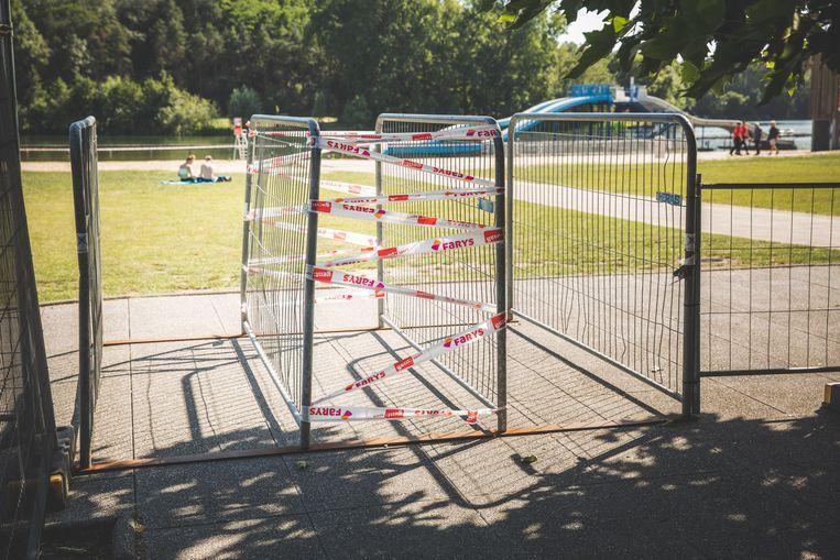 Coronaproof: de toegang tot de ligweide aan de Blaarmeersen.