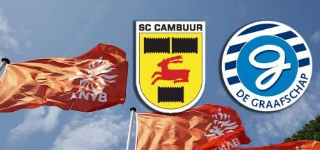 Kort geding Cambuur en De Graafschap tegen KNVB op 8 mei