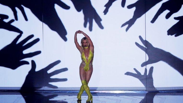 Britney Spears tijdens de MTV Video Music Awards. Beeld REUTERS