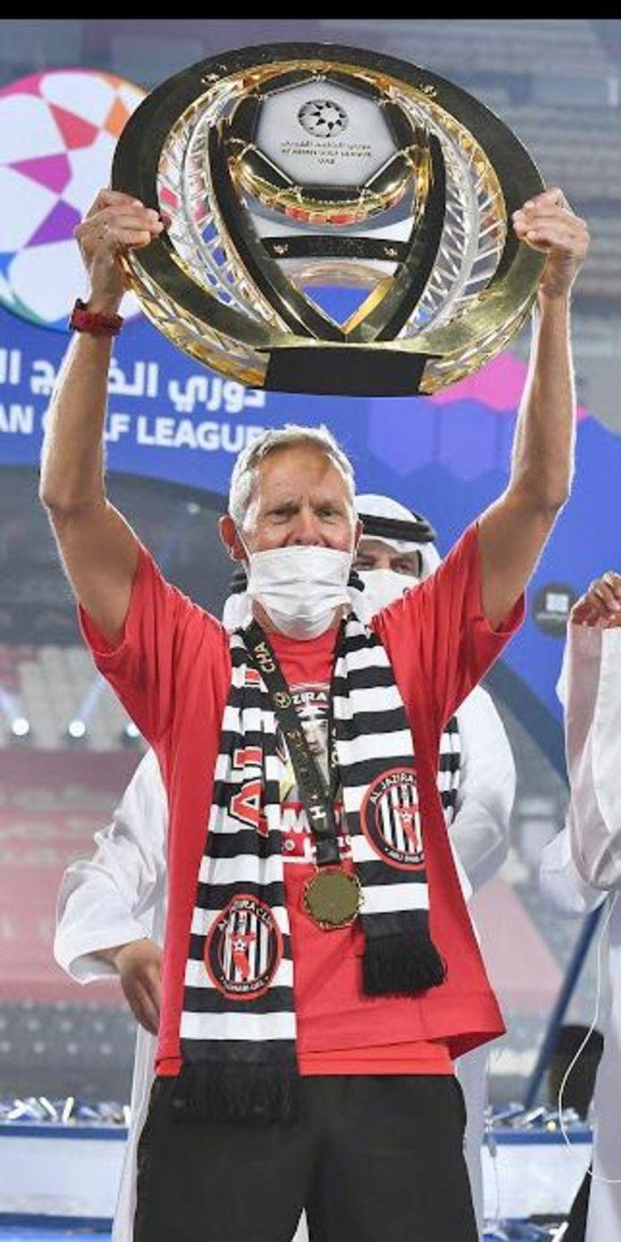 Jan Kluitenberg is met Al-Jazira kampioen van de Verenigde Arabische Emiraten geworden.