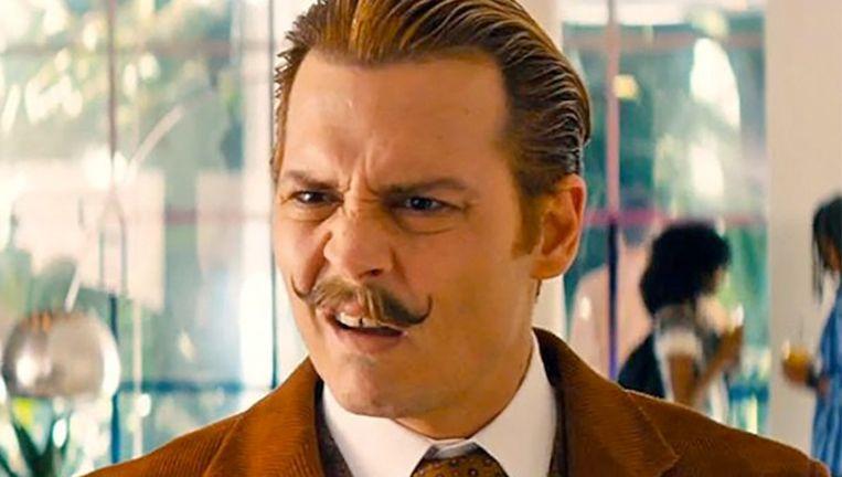 Johnny Depp viel als 'Charlie Mortdecai' niet in de smaak bij de jury. Beeld Lionsgate