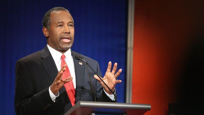 Presidentskandidaat voor de Republikeinen, Ben Carson.