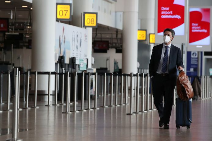 Het is nog steeds rustig op Brussels Airport.