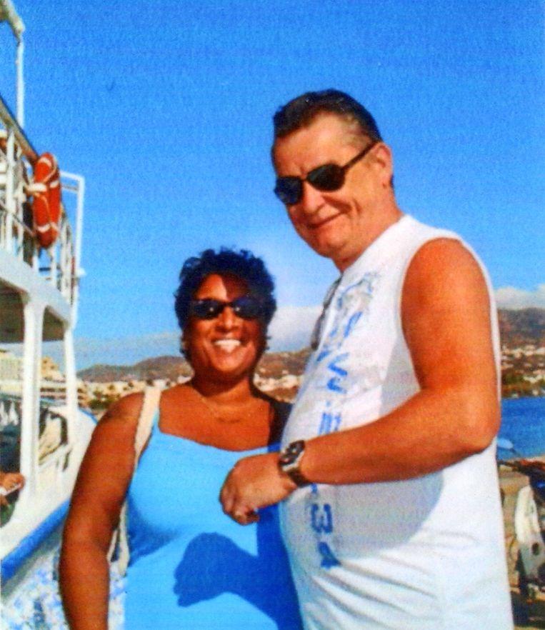 Rachel en vriend Bert Kistemaker op excursie naar Spinalonga, Kreta, 2018.  Beeld Privé-archief