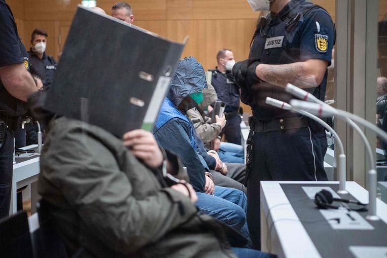 De aanklagers gaan ervan uit dat het netwerk rondom Gruppe S veel groter is dan de twaalf verdachten in Stuttgart. Beeld AFP
