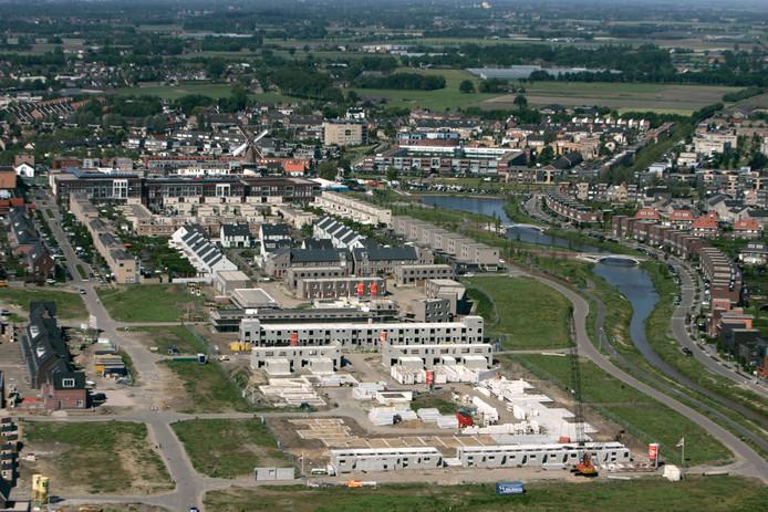 De Hoven in aanbouw. Deze huurwoningen werden in 2013 opgeleverd.