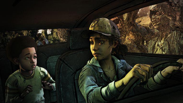 Scène uit het weer behoorlijk creepy 'The Walking Dead', waarvan de eerste van vijf afleveringen uit het laatste seizoen net verscheen. Beeld Telltale Games