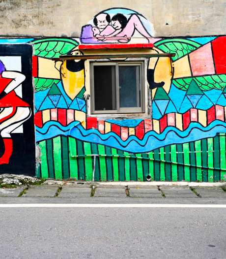 """À Taïwan, un """"village graffiti"""" veut soulager la solitude des personnes âgées"""