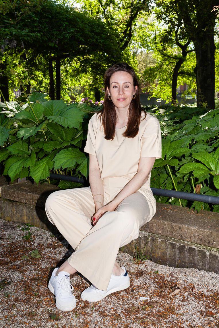 Claire Martens in het Erasmuspark. Beeld Nina Schollaardt