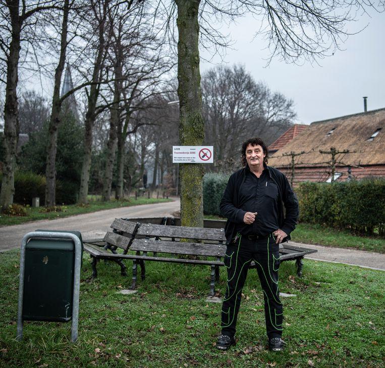 Hans Schraven, de initiatiefnemer van een vuurwerkvrij Leur. Beeld Koen Verheijden