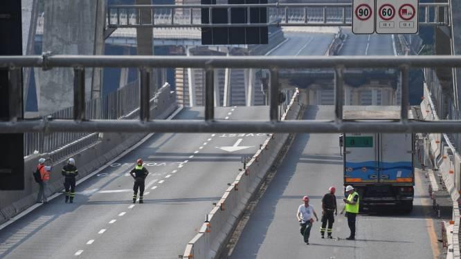 """Ook andere helft van brug in Genua in """"bedenkelijke staat"""""""
