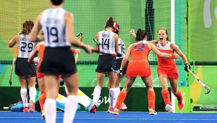Kelly Jonker heeft 3-0 gemaakt voor Nederland. Beeld photo_news