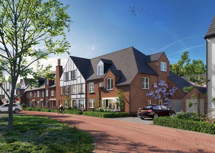 Het nieuwe CottagePark in Waddinxveen wordt in de Engelse tudorstijl gebouwd.