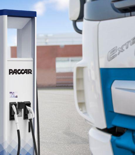 Elektrische DAF-truck kan aan Paccar-oplader, geproduceerd door Heliox uit Best