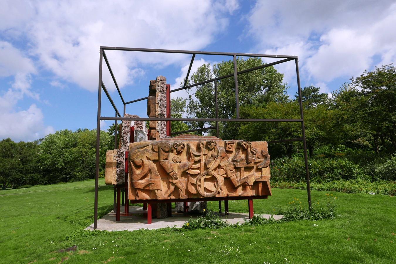 Nieuw kunstwerk van Toby Paterson in het Zuiderpark in Den Haag.