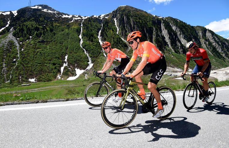 Greg Van Avermaet bereidt het BK en de Tour voor in Zwitserland. Beeld Photo News