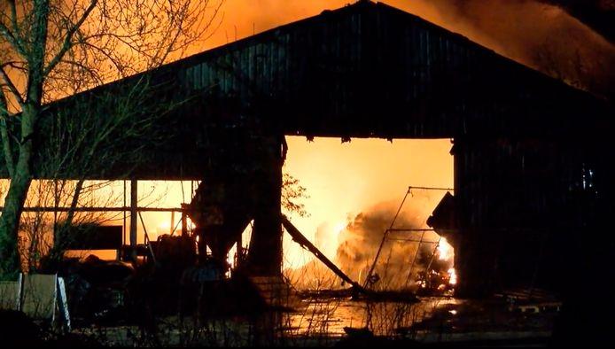 Brand in een xtc-lab in Poortvliet.