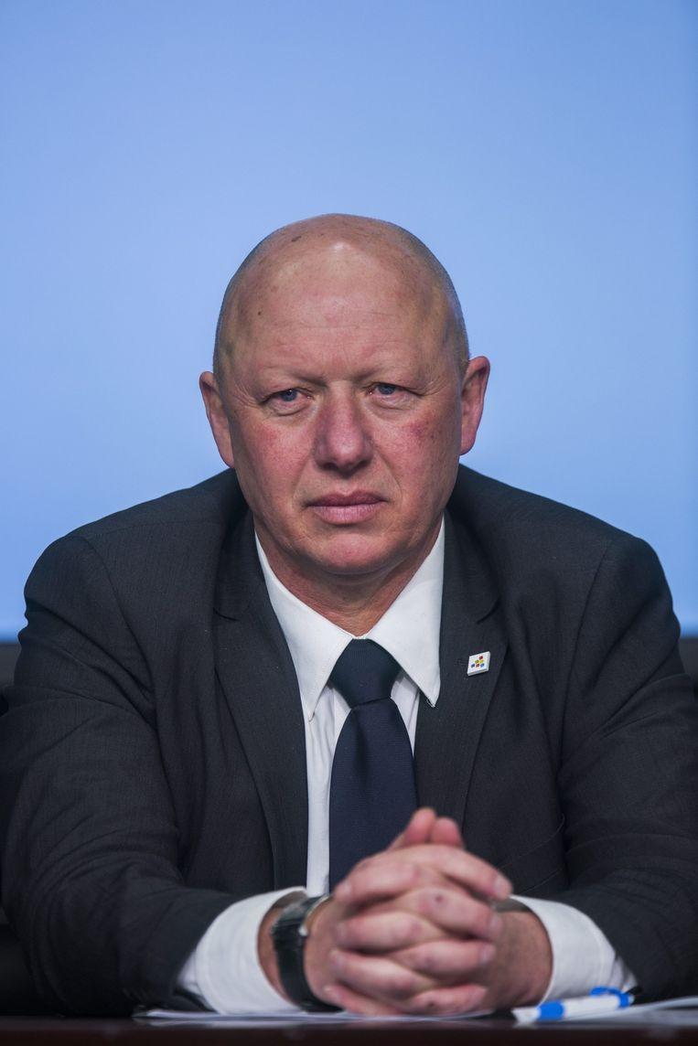 Hans Bonte, burgemeester van Vilvoorde. Beeld epa
