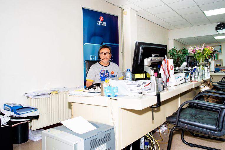 Ahmet Kiziltepe van Kiziltepe Reizen: 'Ik zei tegen iedereen: alles komt goed.' Beeld Marjolein van Damme