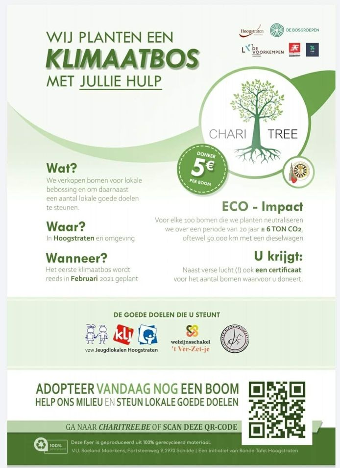 De actie ChariTree was een groot succes. Er werden zelfs meer dan de vooropgestelde 1.250 bomen verkocht zodat er ondertussen al een tweede bebossingsproject wordt opgestart.