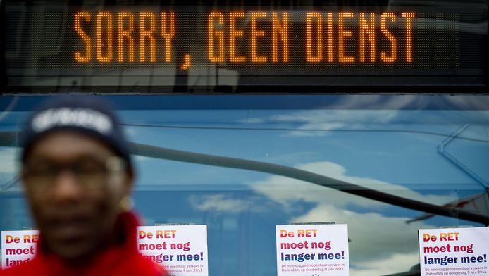 Op 7, 8 en 9 juni staakten de vervoersbedrijven ook al. © ANP