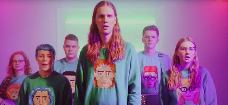 Daði og Gagnamagnið heeft het online alternatief festival Eurostream 'gewonnen' met 'Thinking About Things'. Beeld YouTube