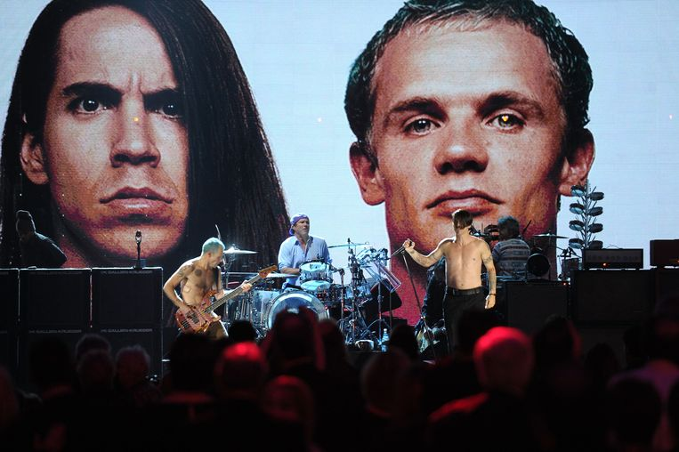 Een show van de Red Hot Chili Peppers in Cleveland, 2012. Beeld AFP
