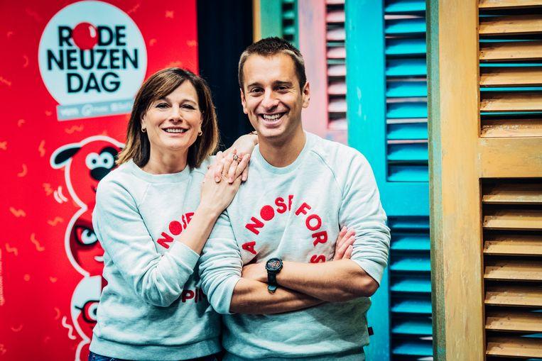 Birgit Van Mol en Sam De Bruyn. Beeld Medialaan