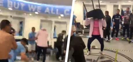 L'immense joie du vestiaire de Man City après la victoire face au PSG