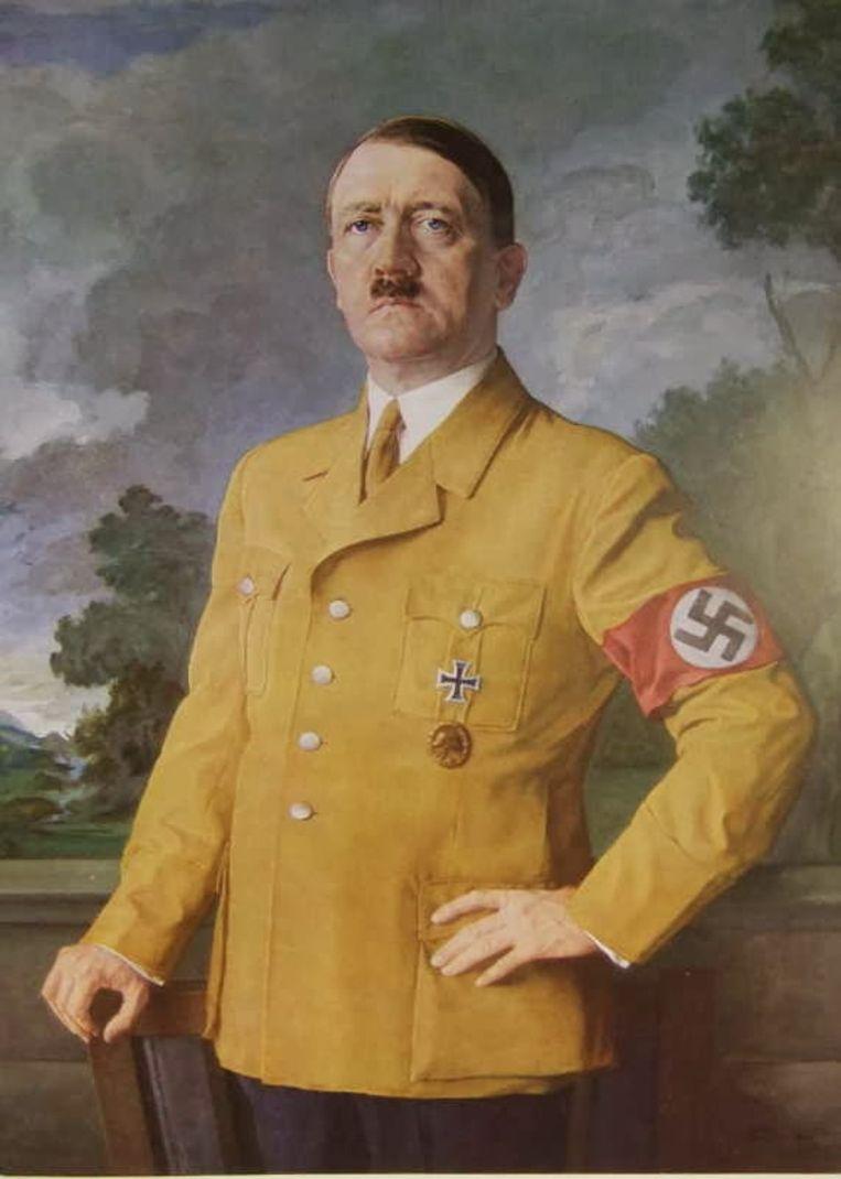 Ongedateerd schilderij van Adolf Hitler. Beeld rv