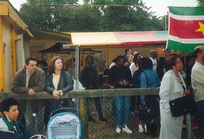 Buitenevenement op de oude locatie aan de Motorenweg.  Foto uit archief Sranti.
