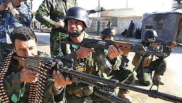 Iraakse soldaten in Ramadi Beeld afp