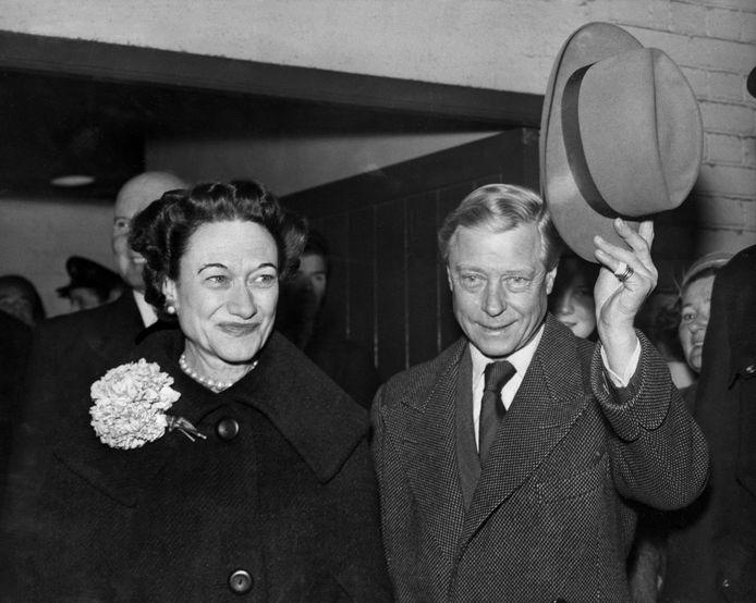 Edward VIII en zijn vrouw Lady Simpson