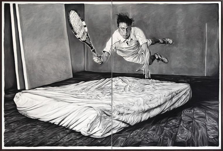Kunstenaar: Rinus van de Velde.'Zijn werk spreekt me vooral aan, omdat het met een voet in het verleden staat en met een voet in het hedendaagse.' Beeld Tim van Laere Gallery