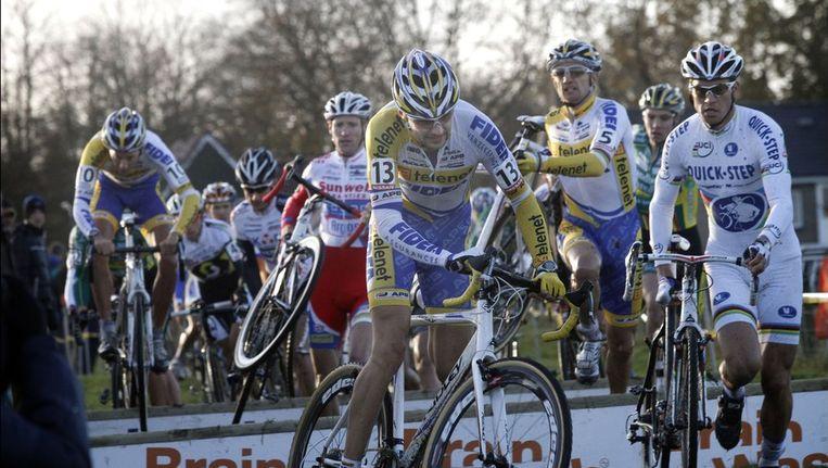 Wereldkampioen Zdenek Stybar en Bart Wellens starten niet in de Druivencross. Beeld PHOTO_NEWS