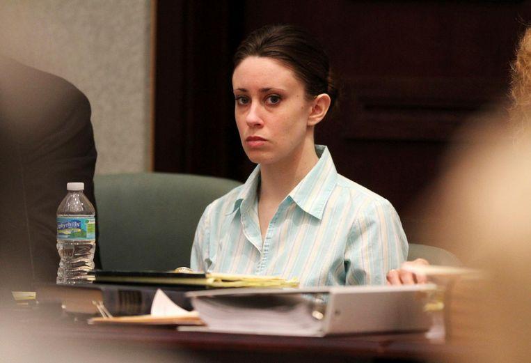 Casey in de rechtszaal tijdens haar proces.