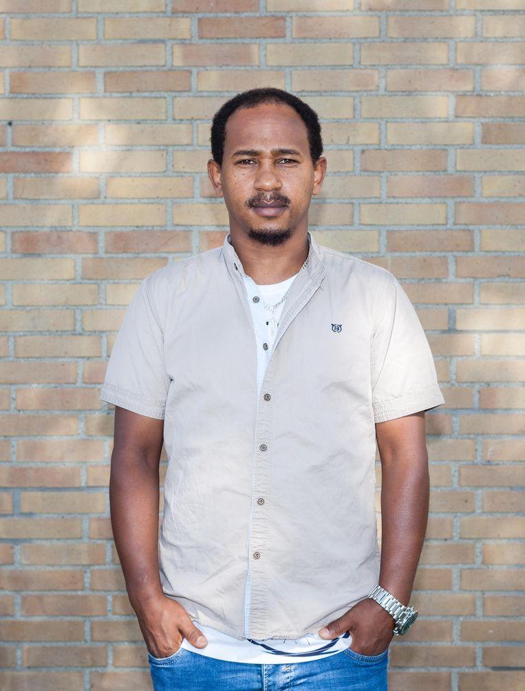 Agaze Yihehe, gevlucht uit Eritrea. Beeld Nina Schollaardt