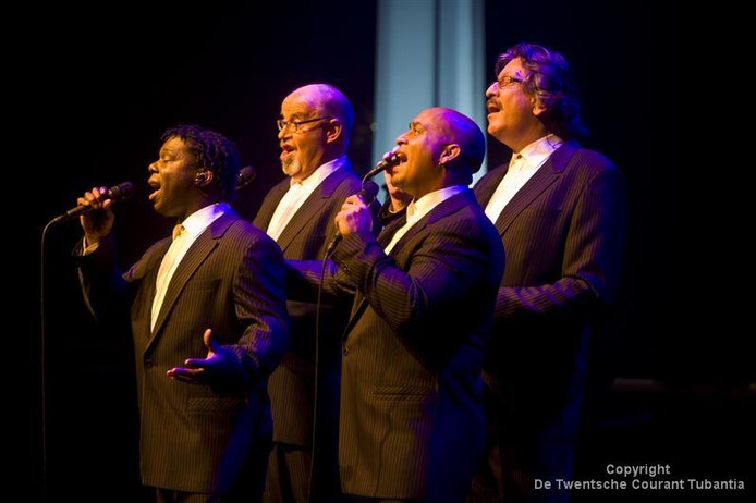 Archieffoto: The Deep River Quartet met Dick Rietveld (rechts)