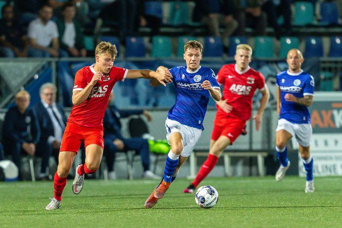 Roy Kuijpers was vrijdag met twee doelpunten de grote man bij FC Den Bosch bij de 2-1-overwinning op koploper Jong AZ.