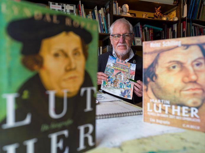 'Luther is en blijft een geweldig fascinerende man, ook voor deze tijd', vindt Bernard Bos uit Heerde. Hij tekende een magazine over de kerkhervormer.