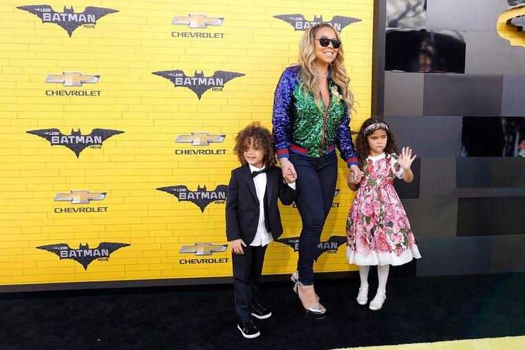Mariah Carey en haar kinderen.