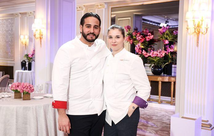"""Sarah et Mohamed se disputeront la finale de """"Top Chef"""" ce soir sur RTL-TVI."""