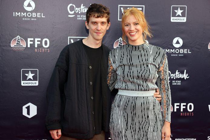 Anemone Valcke en haar partner Jonathan.